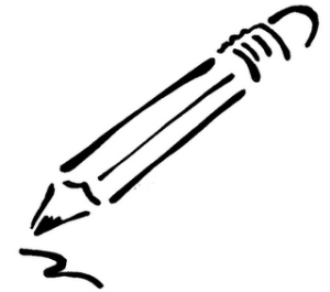 drawing of a pencil